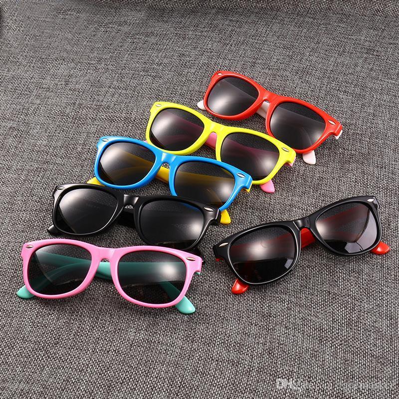 Yaz Marka Beachblac Moda Çocuklar için Güneş Gözlüğü UV Koruma Açık Spor Vintage Güneş Gözlükleri Retro Gözlük 18 Renkler