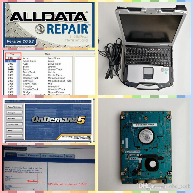 2019 Alldata 10.53 and m itchell on demand 2015 soft-ware + CF30 Toughbook 4G Laptop Alldata 10.53 m-itchell omdemend 2015 Auto diagnosis