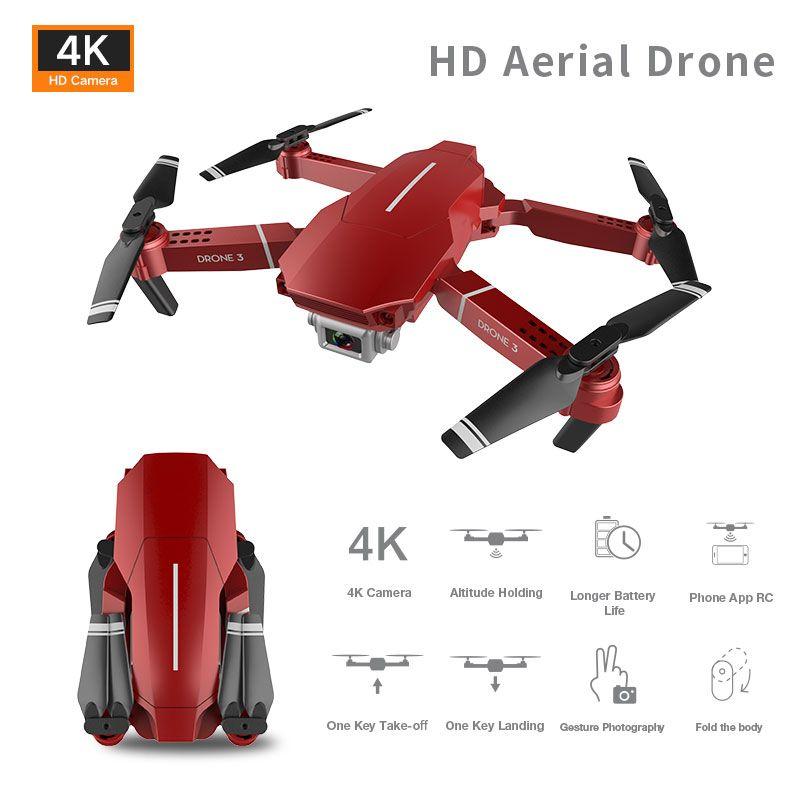 E98 4K HD-Kamera WiFi FPV-Mini-Drohspielzeug, E68-Upgrade-Version, Track-Flug, einstellbare Geschwindigkeit, Geste-Foto-Quadkopter, für Kinder-Geschenk, 2-2