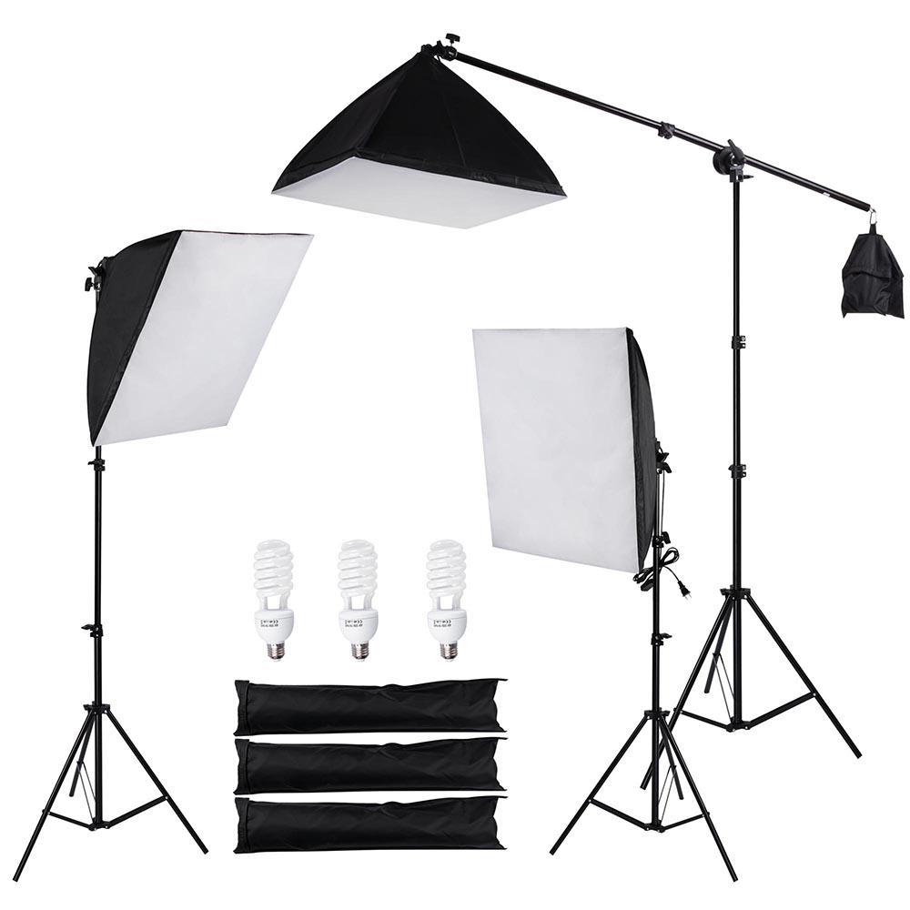 استوديو الصور 22 في الفوتوغرافي Softbox إضاءة عدة ترايبود بوم الذراع
