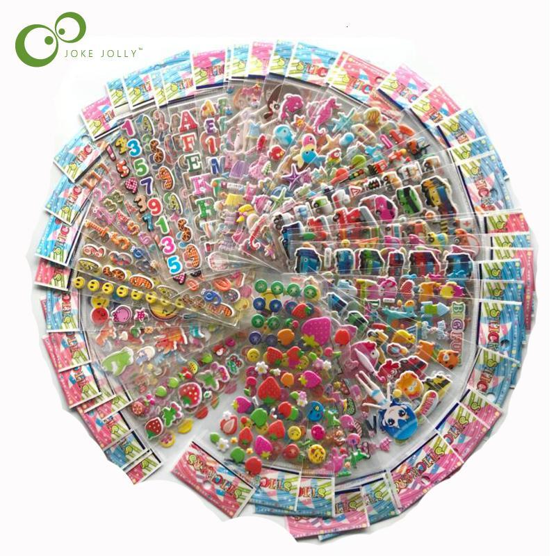 100 sheets Sticker Kids Cute 3D Cartoon Stickers Mixed School Teacher Reward Children Early Learning Toys for Children GYH SH190913