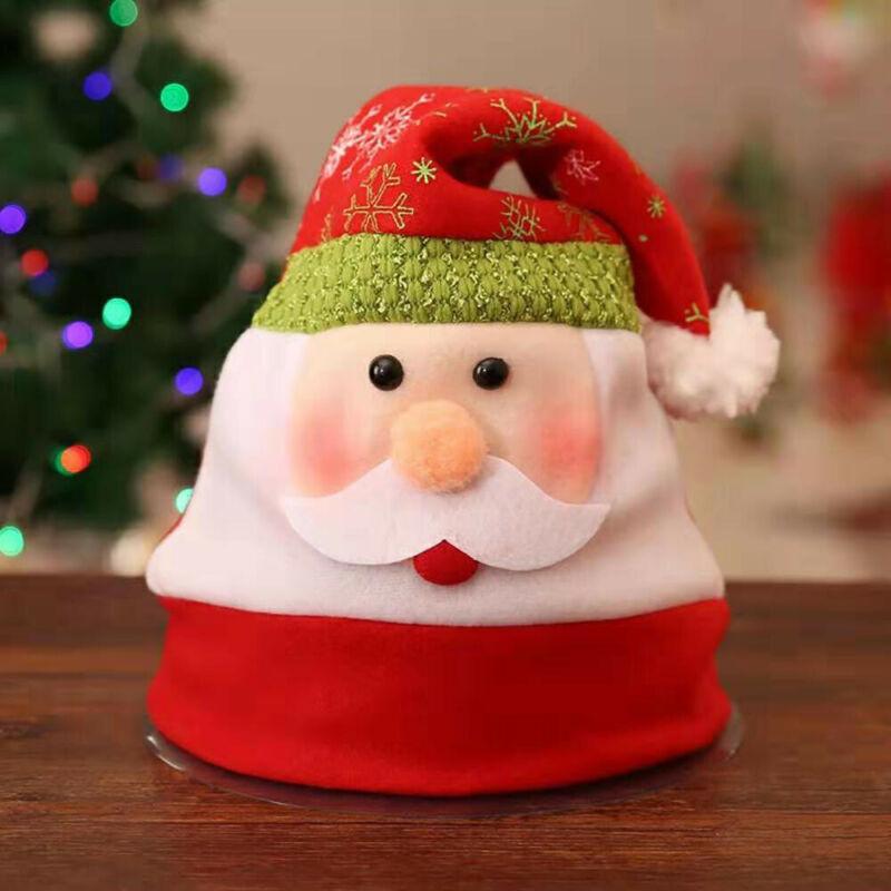 2019 Nouveau adultes / enfants mignons chapeaux de Noël drôle de nouveauté Père Noël Père Noël Costume Party Outfit Hot