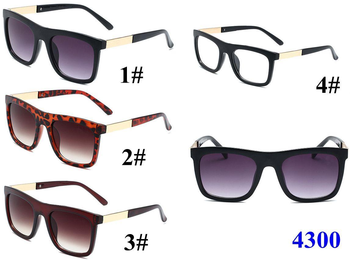 DESIGN Klassik 2020 NEUES Sonnenbrille Männer Frauen Driving-Quadrat-Rahmen Sonnenbrillen männlich UV400 Gafas De Sol leaopard schwarz Wohnung Frame 4 Farben