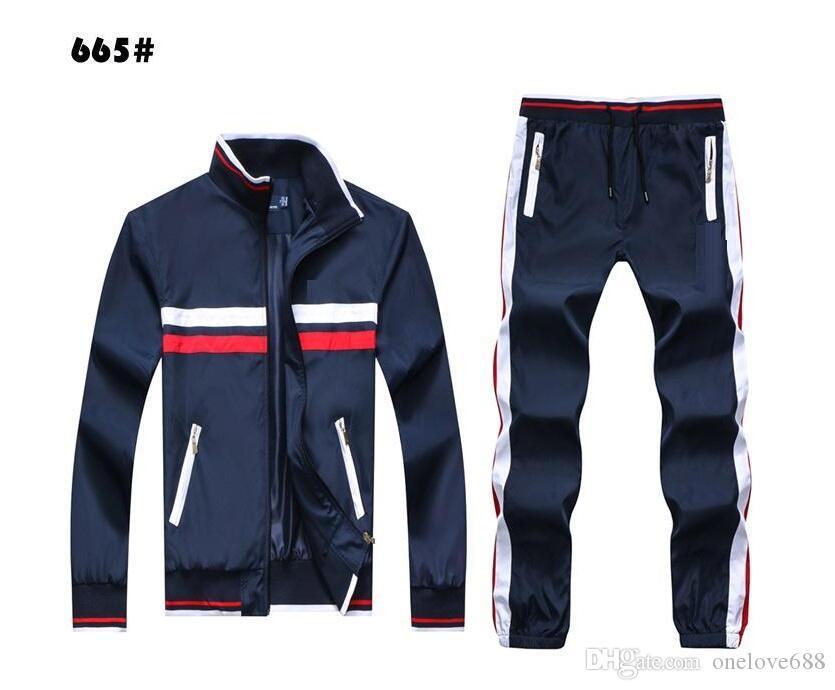 2020 Herbst Männer Full Zip Trainingsanzug Männer Sportanzug weiß billige Männer Sweatshirt und Hosenanzug Hoodie und Hose Set Sweatsuit Männer