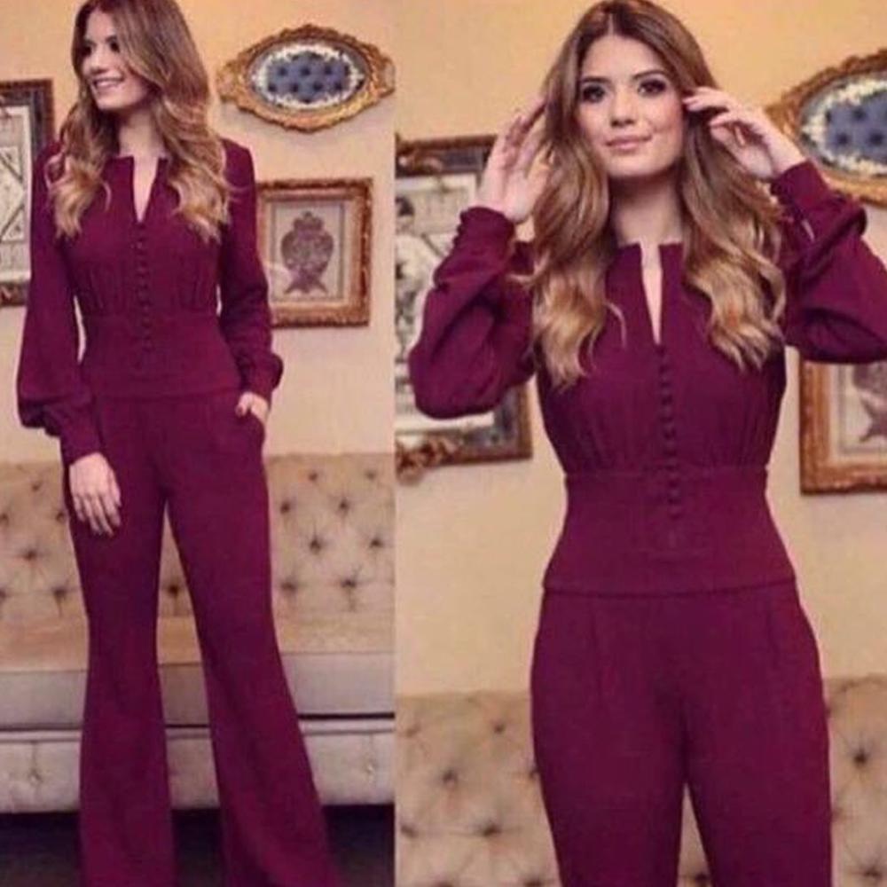 robes de bal du vin rouge cou v robes de soirée à manches longues Vestidos de fiesta formelle robes bordeaux