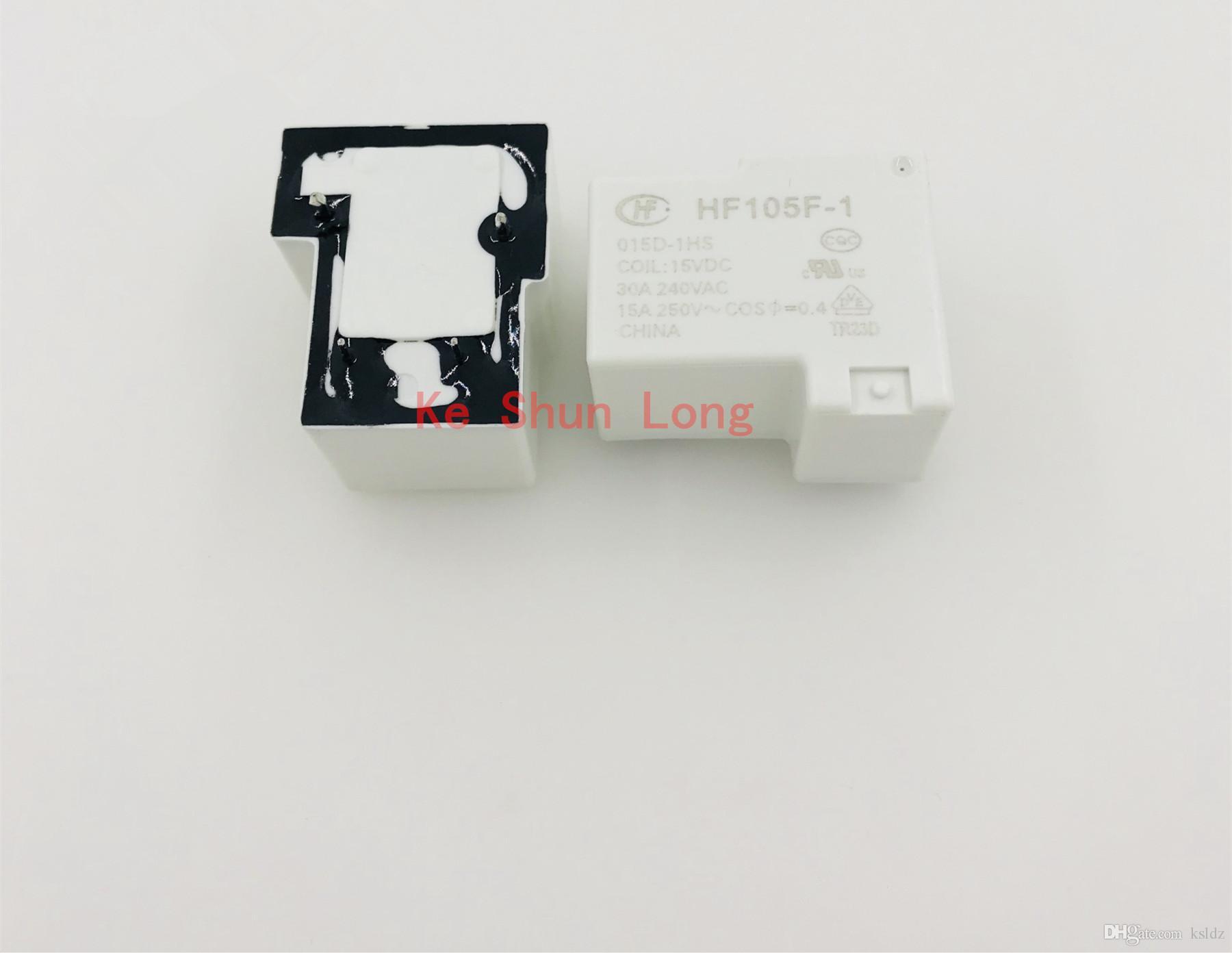 Ücretsiz kargo lot (5 adet / grup) 100% Orijinal Yeni HF JQX-105F-1-009D-1HS JQX-105F-1-015D-1HS JQX-105F-1-048D-1HS 4 PINS 30A Güç Rölesi