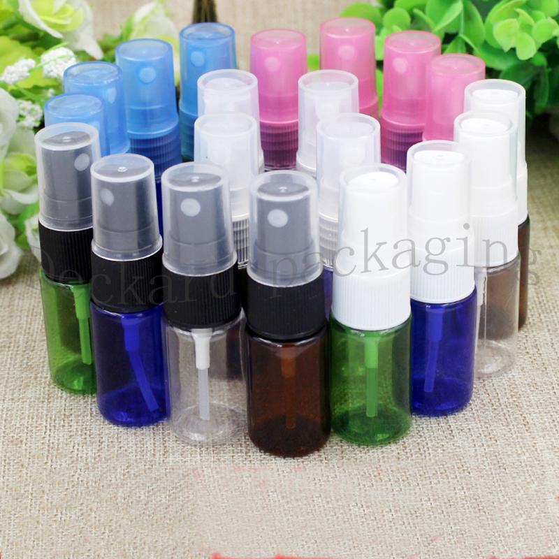 100pcs 10ml Plastic Empty Bottle, Cosmetic Dark multicolor Spray Perfume Bottles, Perfumed Deodorant Spray Cosmetic 10ml Bottles