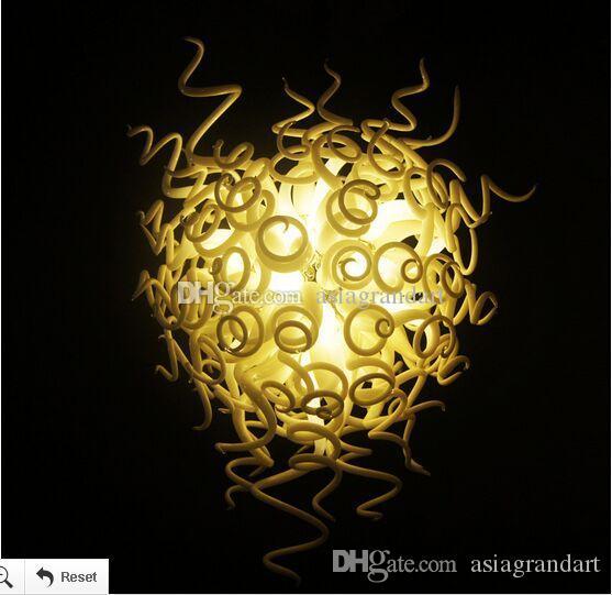 100 % 입 풍선 CE UL 붕규산 무라노 유리 데일 치 훌리 (Dale Chihuly) 예술 화려한 스타일 유리 램프 아트 데코