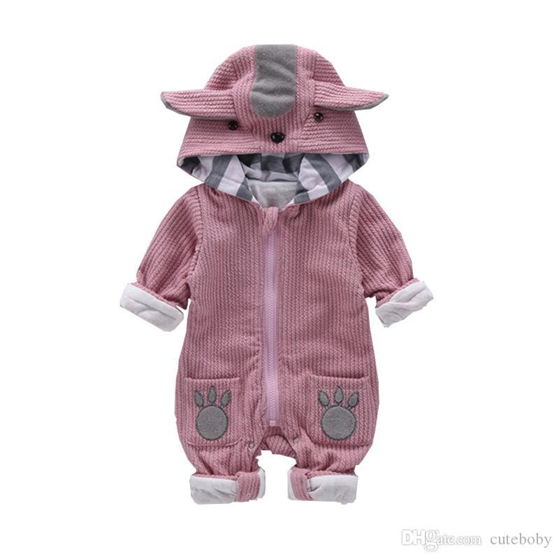 소년 만화 유아 소녀 용 의류 신생아 작업복 아기 옷을 빌려 아기 장난 꾸러기 겨울 따뜻한 양털 의류 세트
