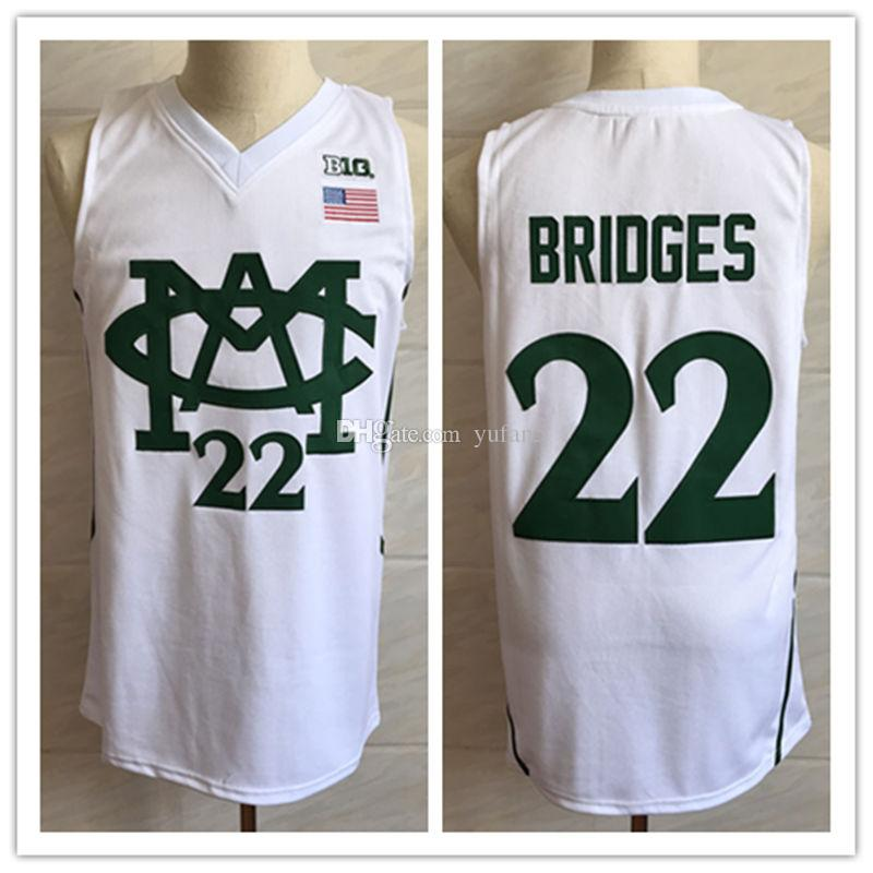 newest e0c09 ef737 2019 #22 Miles Bridges Michigan State Spartans College Retro Classic  Basketball Jersey Mens Stitched Jerseys From Yufan5, &Price; | DHgate.Com