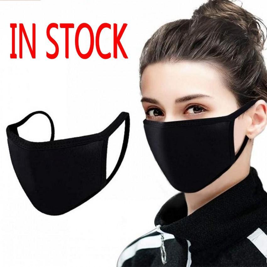 In voorraad katoen PM2.5 Mond Masker Anti Dust Gezichtsmasker met geactiveerde koolstoffilter Winddichte mond-moffel voor mannen Dames FY9049