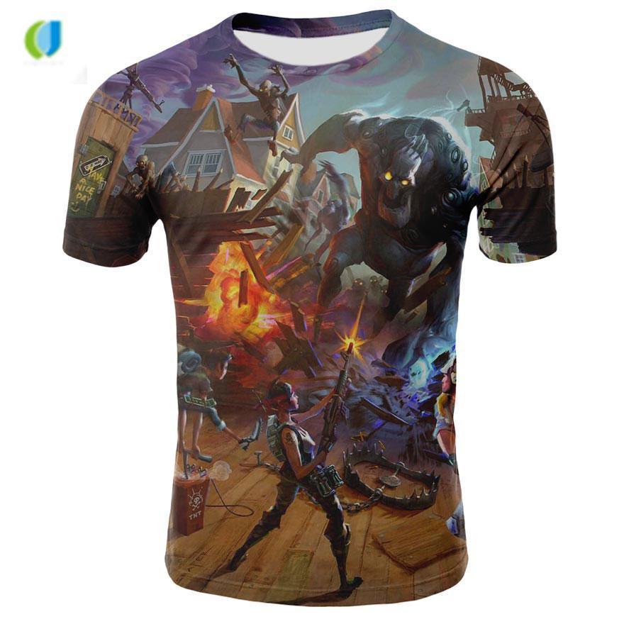 2018 Top 3d Shirt T-shirt da uomo Harajuku manica corta gioco divertente magliette Homme S-4XL