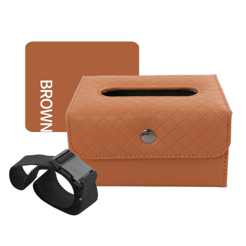 Güneşlik Koltuk Arka C66 için Araç Doku Saklama Kutusu Tutucu Vaka Peçete Kağıt Konteynır