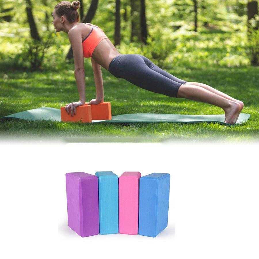 Hot sale Yoga Block Props Foam Brick Stretching Aid Gym Pilates Yoga Block Exercise Fitness Sport with customized logo print