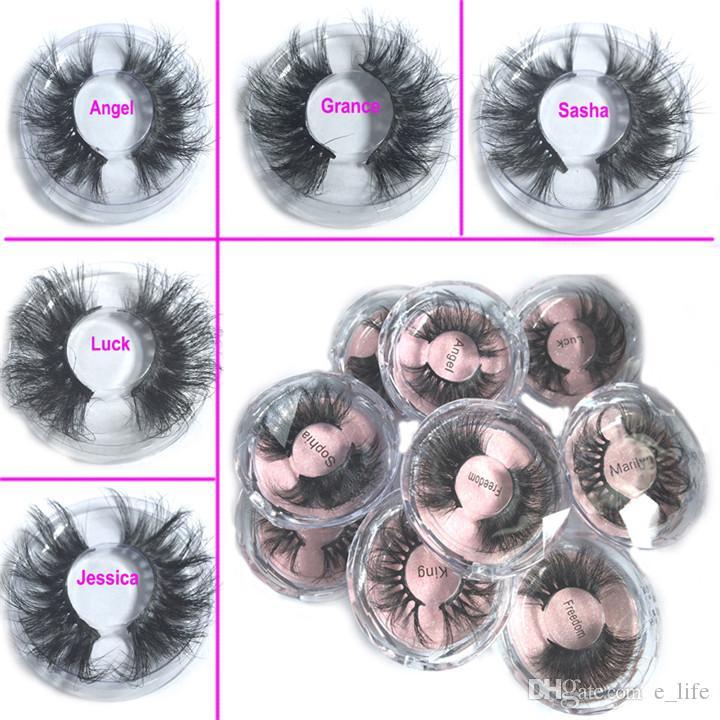 2020 En Yeni 25MM 3D Vizon Kirpikleri Yanlış Eyelashes% 100 Vizon Kirpik Uzatma Mink Lashes Kalın Uzun Dramatik Göz Lashes DHL FREE 5d