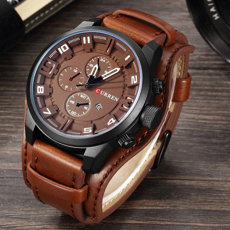 CURREN Мужские часы Top Brand Luxury FashionCasual Бизнес Кварцевые часы Дата Водонепроницаемые наручные Hodinky Relogio Мужчина для