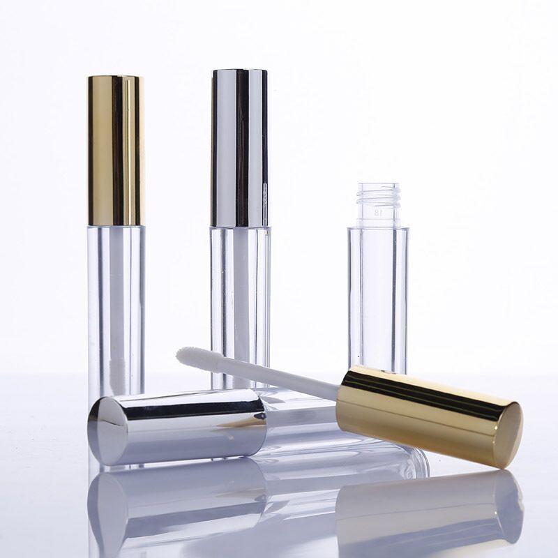 10ml mini-tour paquet cosmétique de tube de brillant à lèvres brillant à lèvres bouteille vide avec bouchon d'or WB1951