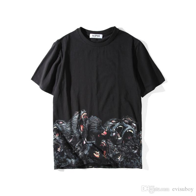 Mens Stylist T Shirt Mens Clothing 3D Orangutans Summer T Shirt Hip Hop Men Women Short Sleeve Size S-XXL
