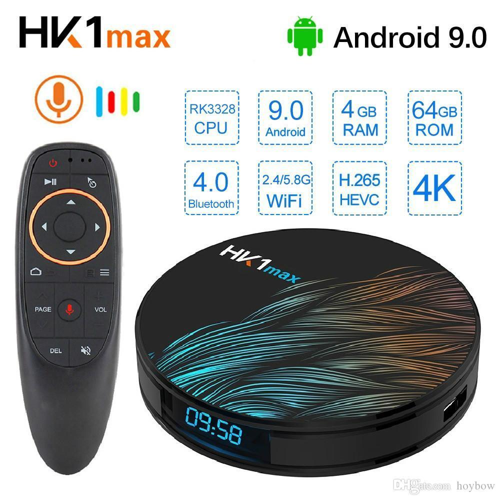 HK1 Max Smart TV Box Android 9.0 4GB 64GB RK3328 1080p 4K Wifi Google Play Netflix Set top Box Media Player Android Box 9.0
