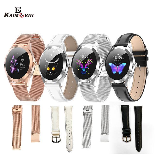 Acessórios baratos Original 10 relógio inteligente Strap Mulheres de aço inoxidável / Couro Para KW20 KW10 Strap Inteligente Relógios substituição Banda Smartwatch