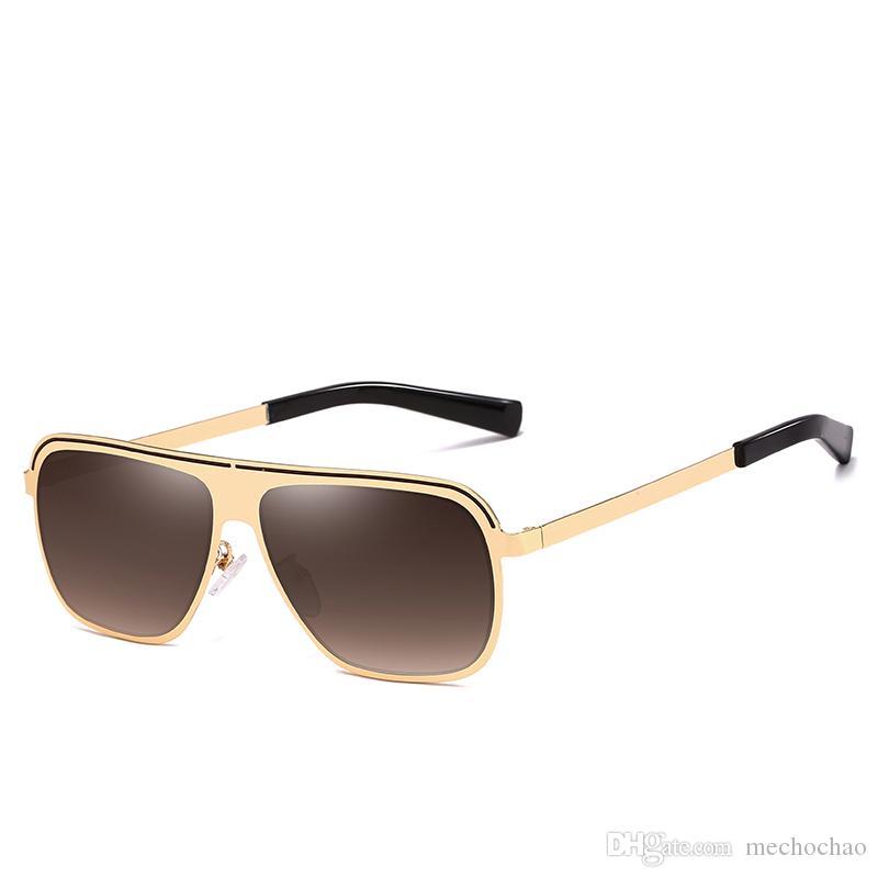 Männer designer marke 2019 sonnenbrille frauen polarisierte männer sonnenbrille metall einzigartige uv400 rahmen quadrat goggles brille wome dpdqr