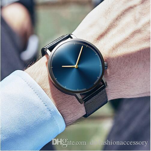Mens Business Male Watch 2018 Fashion Classic Gold Quartz Stainless Steel Wrist Watch Watches Men Clock relogio masculino Wristwatches