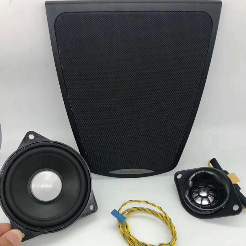 Tableau de bord du Centre 3 pièces Set Pour F10 Série 5 Tweeter Midrange Haut-parleur Middle Panneau Couverture de mise à niveau de la qualité sonore voiture de haute qualité