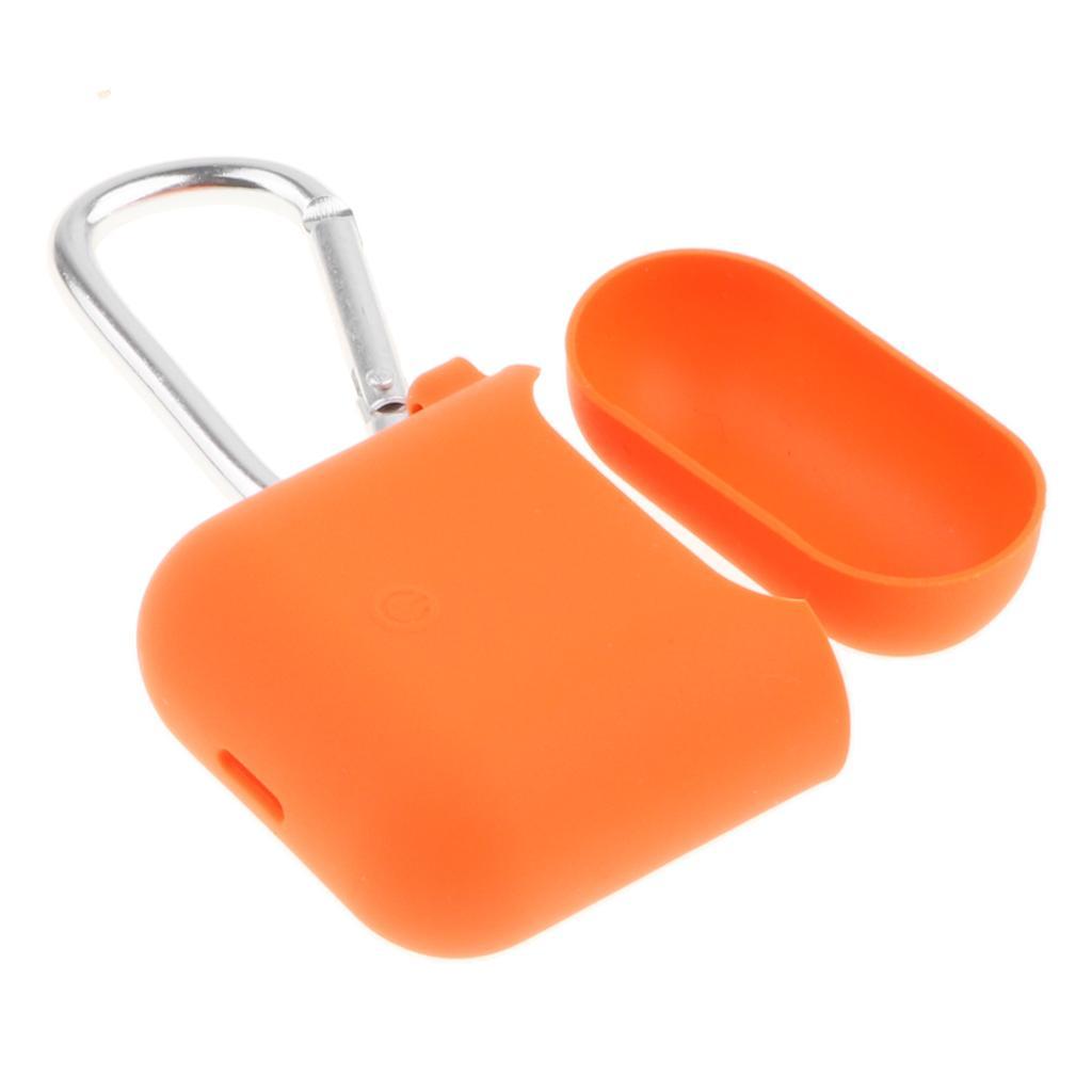 Compatible para AirPods la caja con llave, cubierta de silicona suave protectora a prueba de golpes de la piel para AirPods Estuche de carga