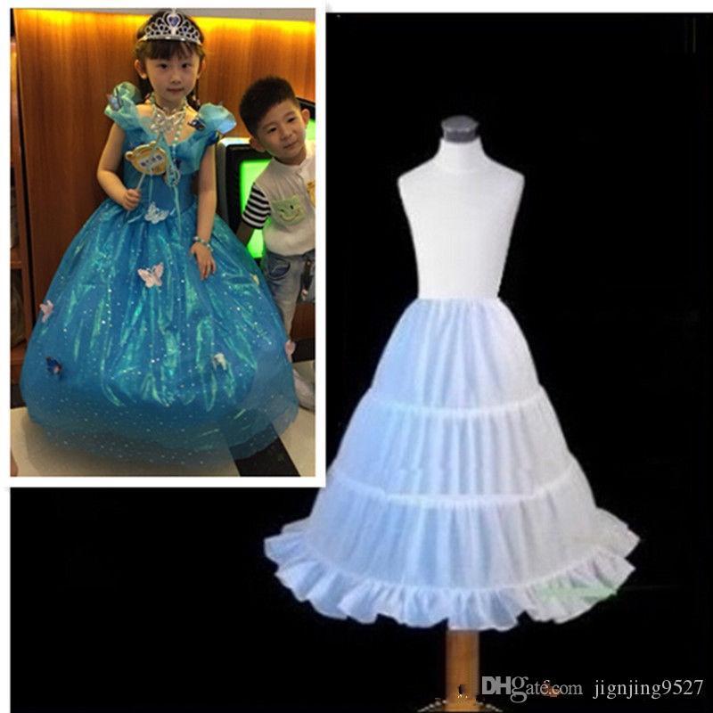 Children petticoat Kids Petticoat Flower Girls 3-Hoop Crinoline Underskirt Dress Slips Children