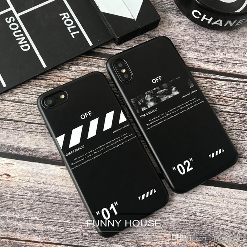 Новые письма полосы мягкого кремния обложка чехол для iphone 11 про максимум 6 6S S плюс 7 7plus 8 8Plus X XR XS MAX задняя крышка телефона стрелка couqe Капа