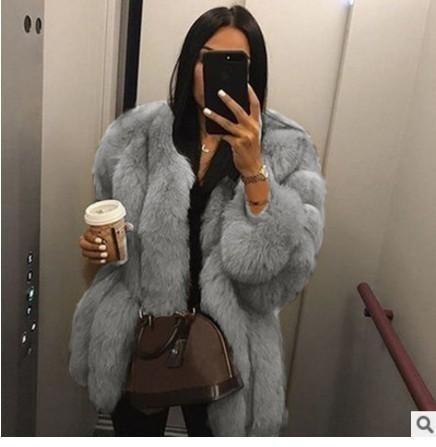 femmes manteau faux moelleuses vintage fausse fourrure à poil court hiver fourrure vêtements automne manteau gris rose manteau de soirée décontractée