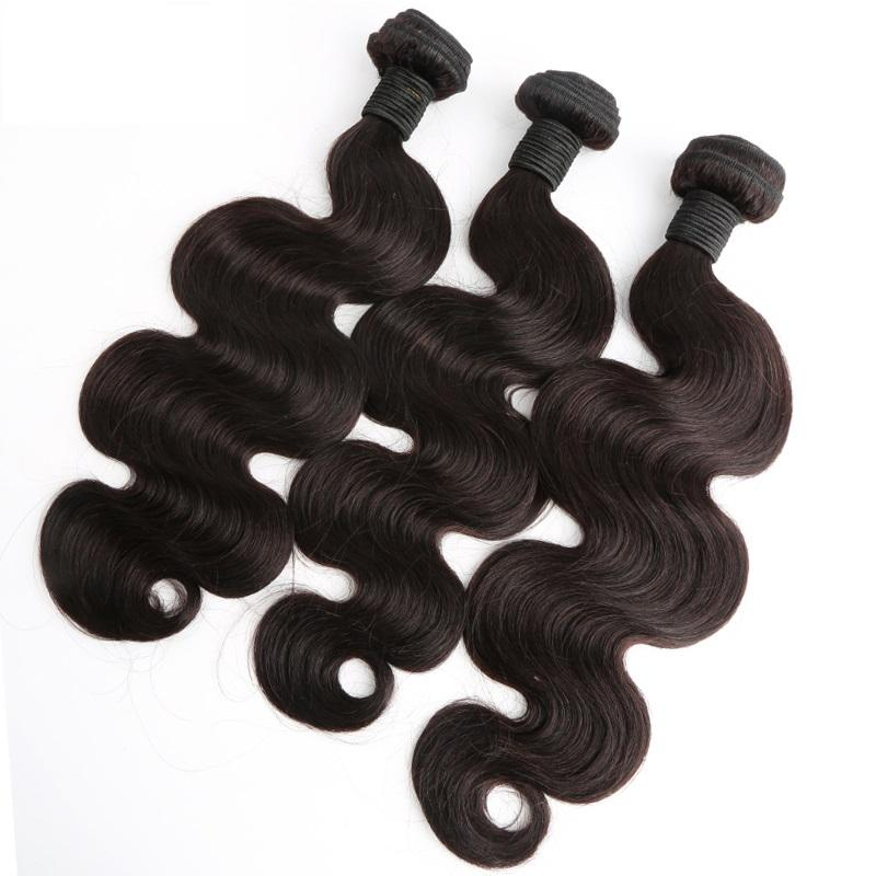 """100% brasilianisches Haar 10 """"-28"""" menschliche haarverlängerung färbbare natürliche farbe körper welle haare webart bündel 2 teile / los greatremy"""