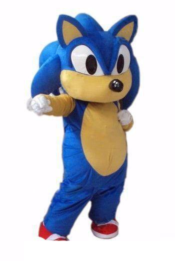 Yeni Sonic Kirpi Maskot kostüm Sonic Maskot kostüm Ücretsiz kargo