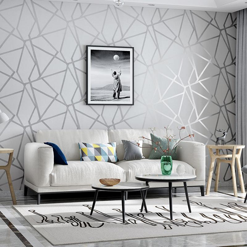 Grey Geometric Wallpaper For Living Room Bedroom Gray White Patterned Modern Design Wall Paper Roll Home Decor Hd Wallpapers Best Hd Wallpapers Desktop Backgrounds From Margueriter 16 78 Dhgate Com