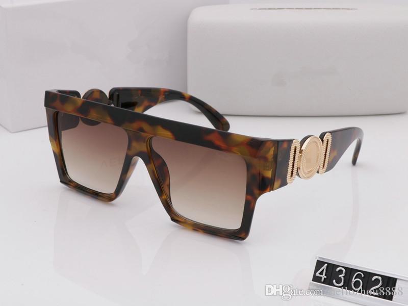 Summer style italy brand medusa sunglasses 4362 women men brand designer uv protection sun glasses clear lens and coating lens sunwear