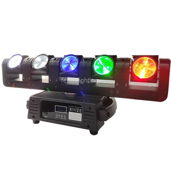 2019 New Pixel Bar Moving Head LED-Lichtstrahl Lyre 5x15w RGBW 4IN1 bewegen Led Bar Strahlendlosdrehen Mobilkopfbalken DMX Licht