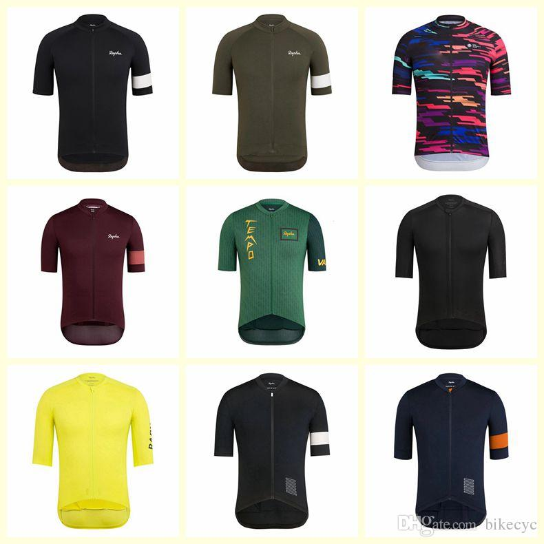 2020 Lato Rapha Krótki rękaw Roupa Ciclismo Jazda na rowerze Jersey Oddychająca Odzież rowerowa Quick-Dry MTB Bike Sportswear Y20112107