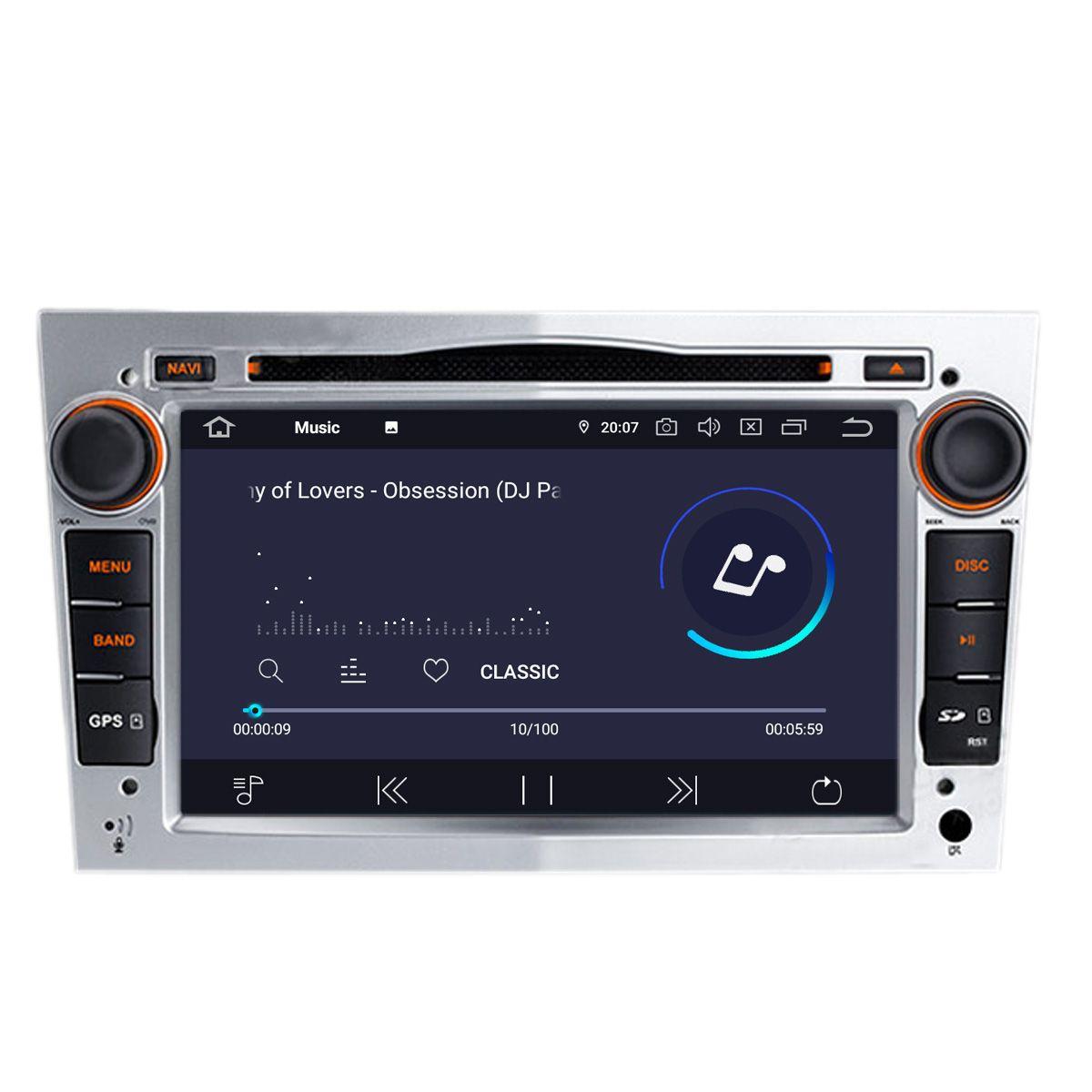 Autocardvdgps coika 7 quad core android 9.0 auto car dvd gps navi for opel astra vectra  zafira antara vivaro radio rds wifi 4g obd dvr 3d map 4k video car dvd