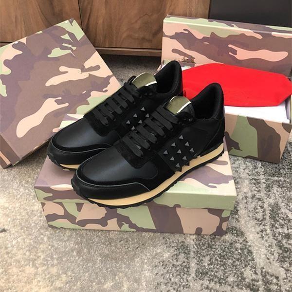 Una calidad superior 2019 del Mens del diseñador de las mujeres Rockrunner las zapatillas de deporte de los zapatos ocasionales Camoufalge con la estrella des chaussures Zapatos Schuhe entrenadores