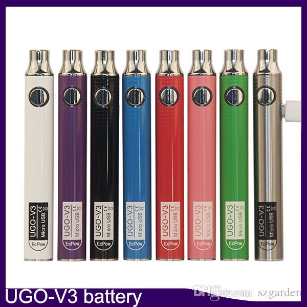 Authentischer EcPow UGO-V3 III Vorheizakku 650mAh 900mAh 510 Thread mit USB-Ladegerät VS Max Vision Spinner II 3s Akku 0270001-1
