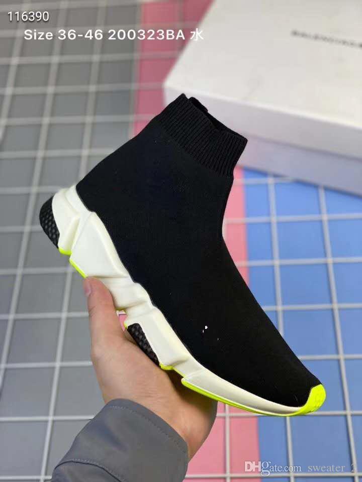 2019 nouveaux enfants de mode chaussures enfants / bébés courir bottes de chaussures de sport tout-petits garçon et filles chaussures en tricot de laine chaussettes de sport
