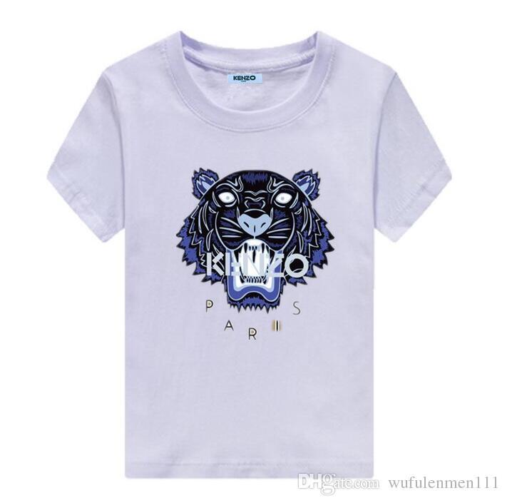 BrandKENZO abbigliamento per bambini estate nuovi bambini T-shirt in cotone di fascia alta comfort scoppiano modelli rotondi abbigliamento per bambini