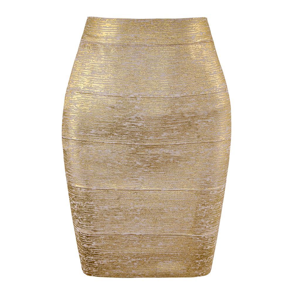 Atacado Mulheres Summer Fashion Sexy Bronzing Preto Prata Mini Bandage saia 2019 Pencil Skirt Night Club Saias Mulheres MX200327