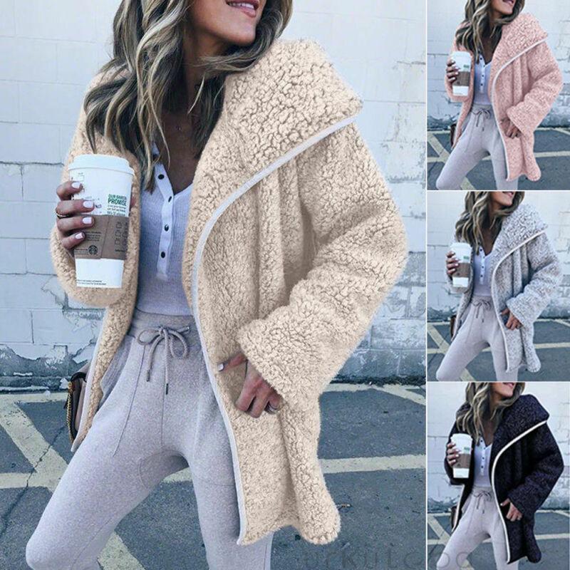 겨울 여성 재킷 코트 여성 점퍼 가디건 여성 양털 가짜 모피 코트 후드 티 착실히 보내다 manteau 팜므 플러스 크기를 따뜻하게