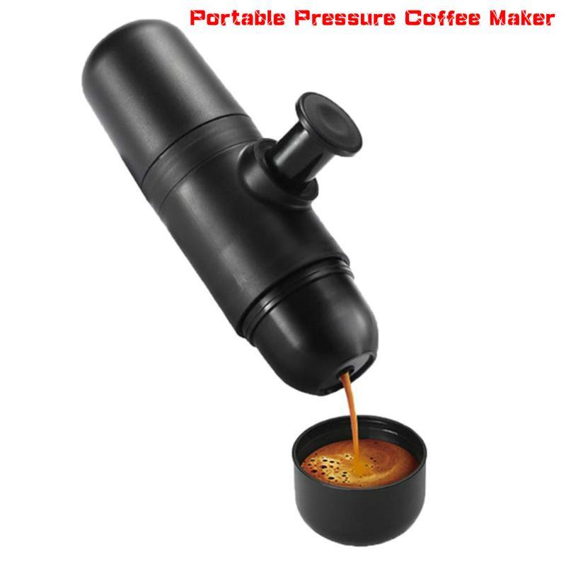Mini-Kaffee-Maschine Manuelles Kaffeemaschine Tragbares Druck Espresso Kaffeemaschine Hand Französisch Presse-Maschine für Heim Reisenden