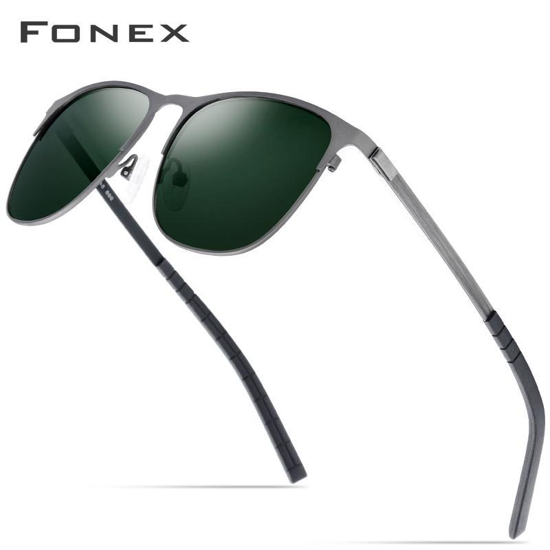 Fonex Sürüş Spor açık Vidasız Alaşım Güneş gözlüğü Erkekler Marka Tasarımcı Kadınlar Shades Gafas için 2019 Yeni Polarize Güneş Gözlükleri