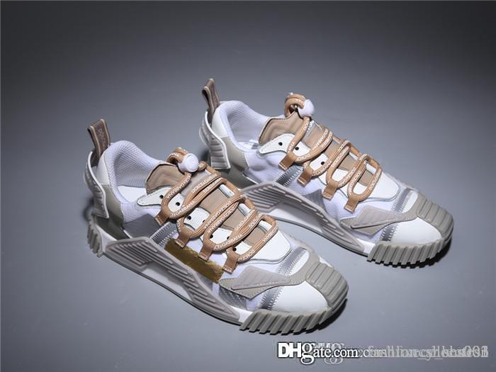 Unisex süper yangın süper Sneakers soğutmak, White Shark Deri Trianers orijinal kutusu ile Büyük Boy Zincir Reaksiyonu Sneakers Şekle