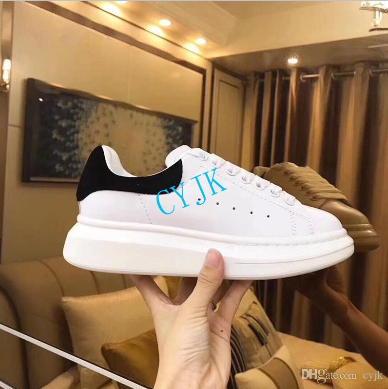 2019 sapatos dos homens do desenhista de couro branco 3M ocasional reflexivo para a menina mulheres ouro negro vermelho da forma confortável esportes planas tamanho da sapatilha 35-46