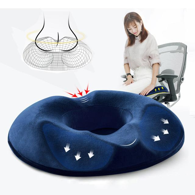 Comfort Memory Foam Seat Cushion Breathable Office Chair Cushion Spinal Alignment Chair Pad For Relief From Sitting Back Pain Dbc Dh0762 Patio Chairs