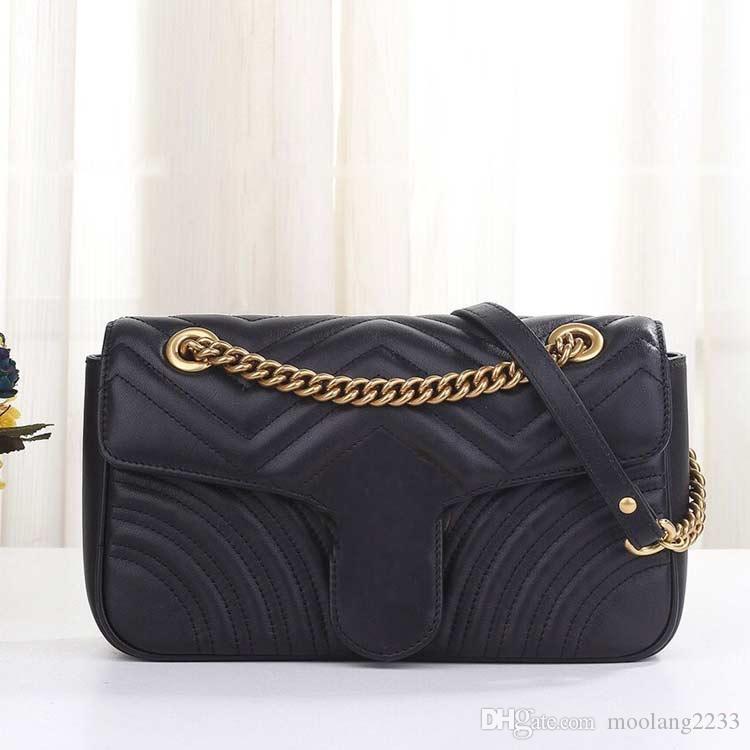 Clássico estilo mulheres bolsas de grife marca crossbody luxo Messenger Bag de alta qualidade sacos de ombro de couro genuíno Senhora bolsas cadeia saco